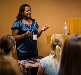 Shannon McCoy teaching a workshop